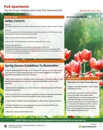 Thumbnail Image of April 2018 Newsletter